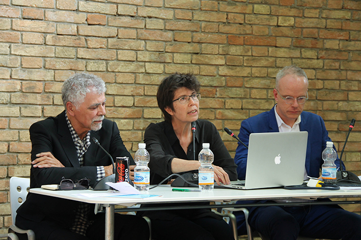 (from left) Ricardo Scofidio, Elizabeth Diller and Hans Ulrich Obrist