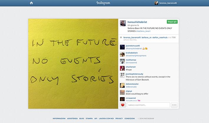 Stefano Boeri on Hans Ulrich Obrist's Instagram